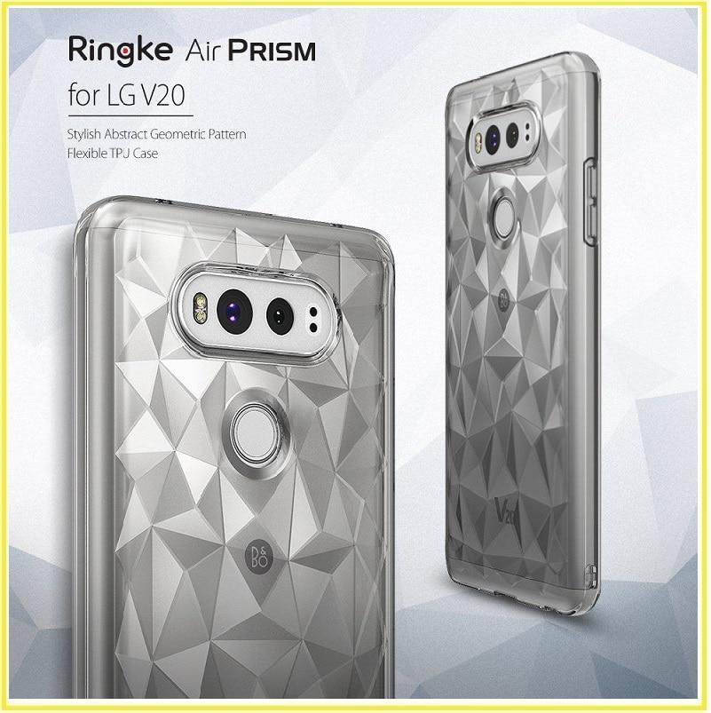 bilder für Ringke fusion air prisma 3d geometrische abdeckung für lg v20 diamant stilvolle muster tpu slim case coquefor v20