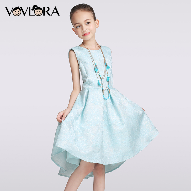 Kids christmas dress Sleeveless Knee-Length A-Line Floral O-neck girls dresses party&wedding plus size 9 10 11 12 13 14 years new kids girls fashion o neck sleeveless dress cute animals print dress girls a line dress clear