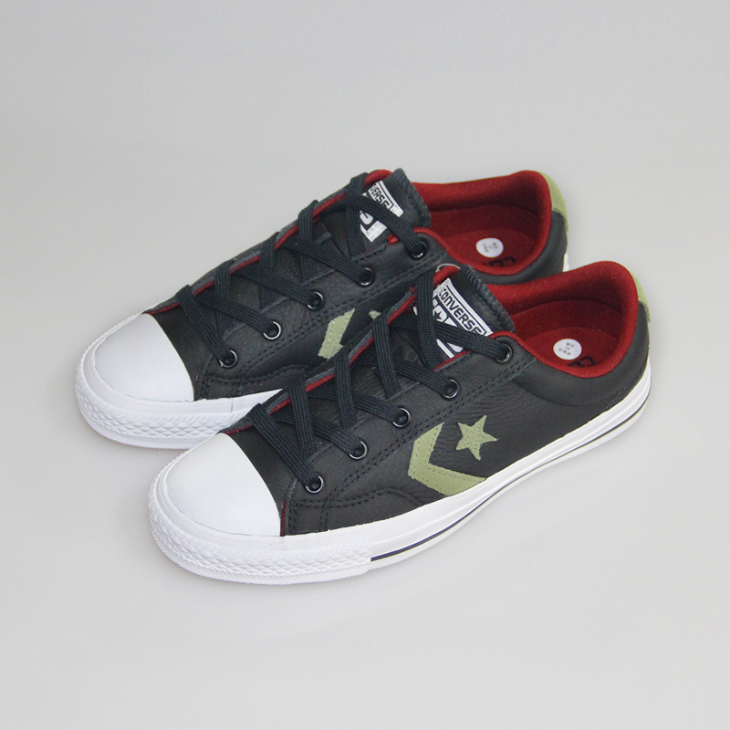 9aac43e892d99 100% original Converse Star Player zapatos de cuero color negro hombre y  mujer Unisex PU cuero Skateboarding zapatos 153762C en Zapatos de skate de  Deportes ...