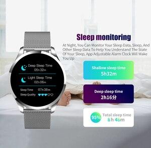 Image 4 - Смарт часы RUNDOING Q9, водонепроницаемые, напоминающие о звонках, умные часы для мужчин, монитор сердечного ритма, модный фитнес трекер