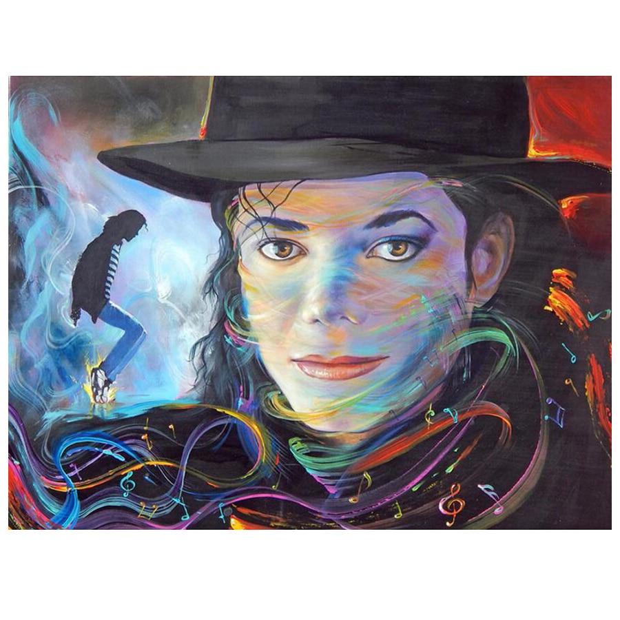 100% DIY Diamond Mosaic Michael Jackson 5D Diamond Painting Cross Stitch Kit Diamond Embroidery Patterns Rhinestones Arts