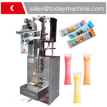 Frequency control system, less noise CE flowability liquid stick packing machine for Ice pop/jelly/Liquid soft