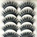 5 Pares Pestanas Falsas Naturais Preto Com Azul Grosso Cílios Falsos Dicas de Maquiagem Cílios Falsos Longo Falso Cílios Extensão