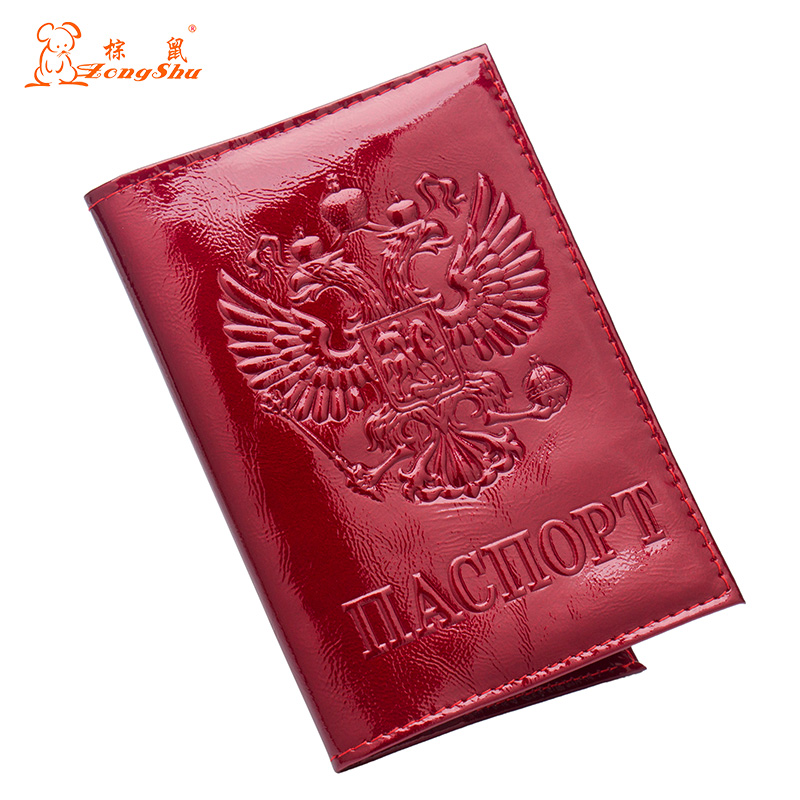 Russian Buckle Metal Double-headed Eagle Pu Leather Card Holder Bag Travel Built In Rfid Blocking Protect Personal Information Card & Id Holders