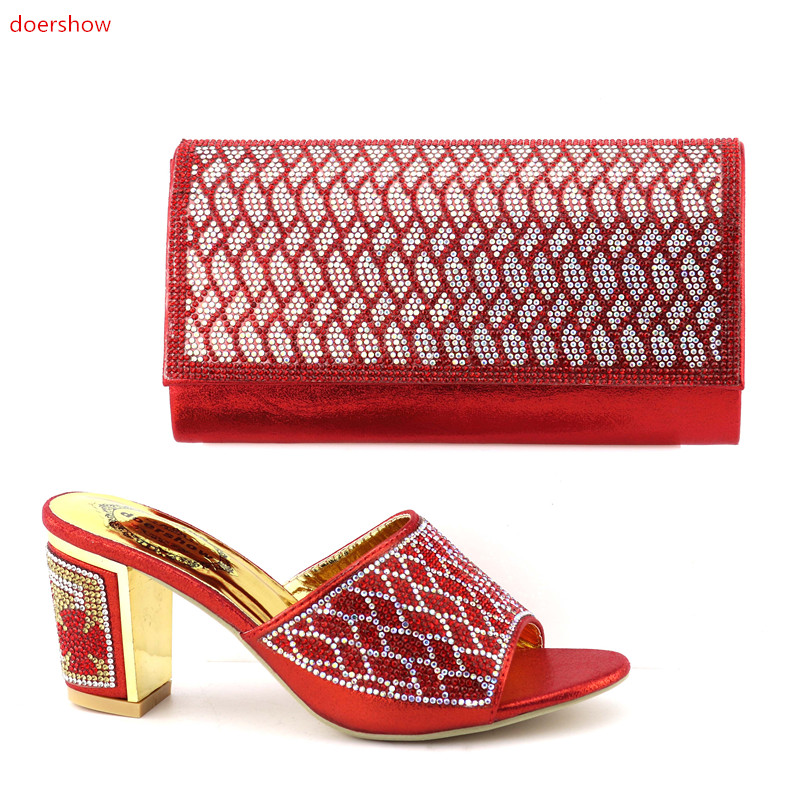 doershow Shoes and Bag To Match Italian Matching Shoe and Bag Set African Wedding Shoes and Bag To Match for Parties !IO1-10 italian shoes with matching bag new design african pumps shoe heels fashion shoes and bag set to matching for party gf25