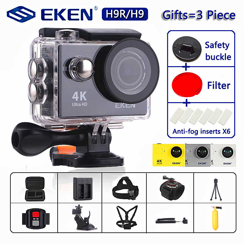 "Cámara de acción Original EKEN H9/H9R Ultra HD 4 K/30fps WiFi 2,0 ""170D impermeable bajo el agua casco video go Sport pro vino"