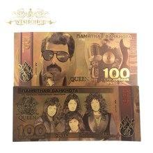 10 шт./лот 2019 новый дизайн для российской банкнота 100 рублей банкнота в 24k позолоченные поддельные деньги в качестве подарка