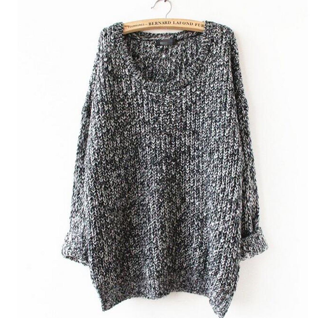 Casual Autumn Winter Women Knitted Pullover Sexy Warm Loose Christmas Sweater Female O-neck Long Sleeve Jumper Poncho Pull Femme