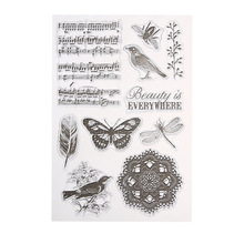 Singing Bird Transparent Clear Silicone Stamp for Scrapbooking DIY Photo Album Diary Book Decorative Clear Stamp Sheets
