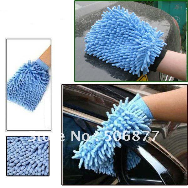 Mixed Color New Hot Sale Car Wash Glove,Microfiber Chenille car cleaning cloth,chenille car cleaning glove
