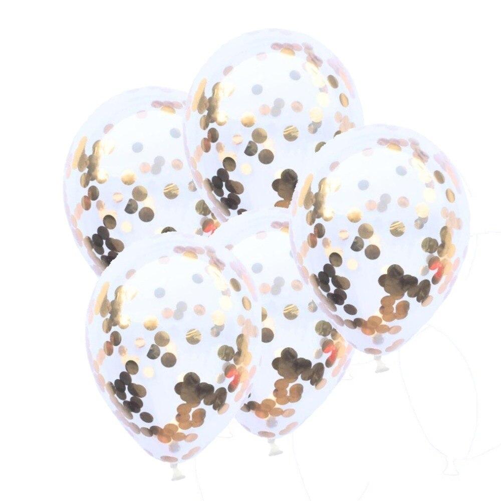 Rose Gold LOVE Letter Red Love Confetti Paper DIY Balloon Wedding Birthday Valentines Day Party Decoration Golbo Balon
