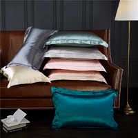Natural Silk Pillowcase Hypoallergenic Both Side 19 Momme 600 Thread Count 100 Percent Mulberry Silk Pillowcase