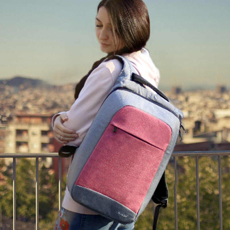 """Multi Модные женские Feminina Mochila розовый 15,6 """"Ноутбук Anti-theft рюкзаки Для женщин школьный рюкзак для девочек Бизнес сумка"""