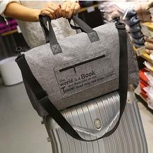 Płótno mężczyźni torby podróżne do przenoszenia torby podróżne męskie torby płócienne torba podróżna duża torba weekendowa z dnia na dzień tanie tanio Luckyeon LY2071 zipper Biznes 21inch Miękkie 46inch List Moda LY2072 0 45kg 27inch Podróż torba