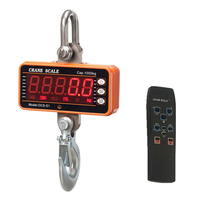 1000KG 2000LBS High Resolution Electronic Weighing Scales Digital LCD Hanging Hook Crane Scale(OCS S1 1000) High Precision Heavy