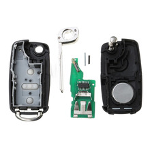 MAYITR High Quality 3 Button Folding Flip Remote Key Chip 433MHz ID48 For VW 2010-UP 5K0837202AD