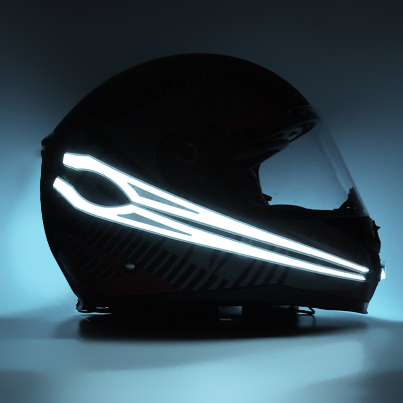 Rechargeable Motorcycle Helmet Cold Light Strip Sticker Night Riding Signal Lamp
