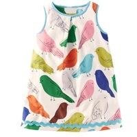 Kids Dresses For Girls Clothing 100 Cotton Jersey Baby Girls Summer Dress Birthday Print Robe Enfant