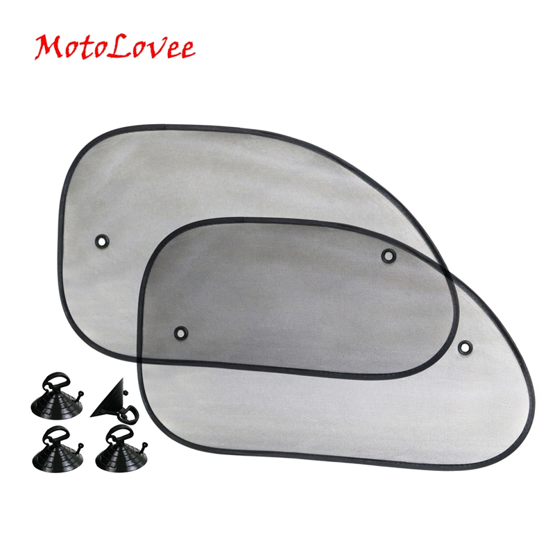 2pcs Black Side Car Sun Shades Rear Window Sunshades Cover Mesh Visor Shield Screen Interior UV protection kids baby Travel in Windshield Sunshades from Automobiles Motorcycles