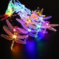 اليعسوب المصابيح مع الألواح الشمسية الصمام سلسلة 480 سنتيمتر 20 الكريسمس حفل زفاف ديكور داخلي حديقة ساحة للماء uw