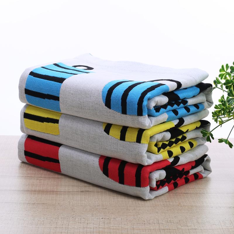 70x140cm Large Size Baby Bath Towel Newborn Bedding Soft Cotton Bag Print for Infant Children Adult Towels Swim Quilt