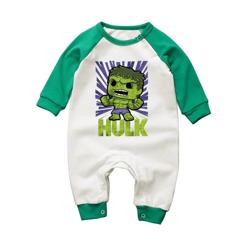Marvel Comics Deadpool Newborn Jumpsuit Baby Long Sleeve Romper Bodysuit Clothes