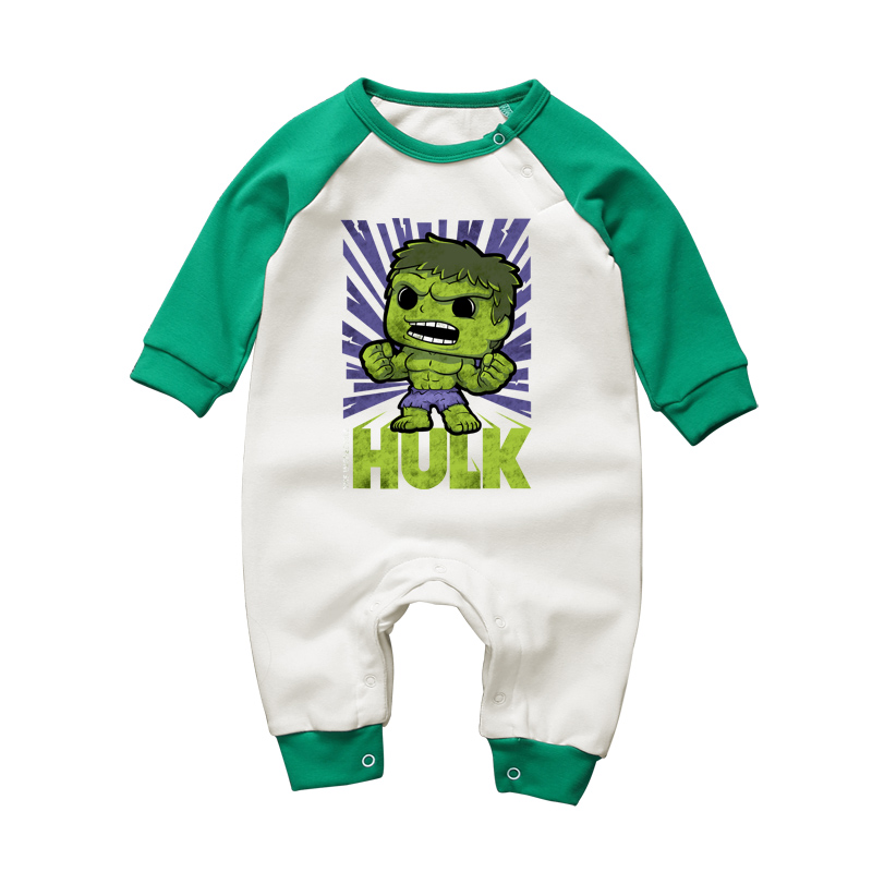 3-18M Newborn Baby Clothing Set One-pieces Superhero Hulk Carton Baby Boys Cotton Rompers Clothes Toddler Long Sleeve Jumpsuits strip baby rompers long sleeve baby boy clothing jumpsuits children autumn clothing set newborn baby clothes cotton baby rompers