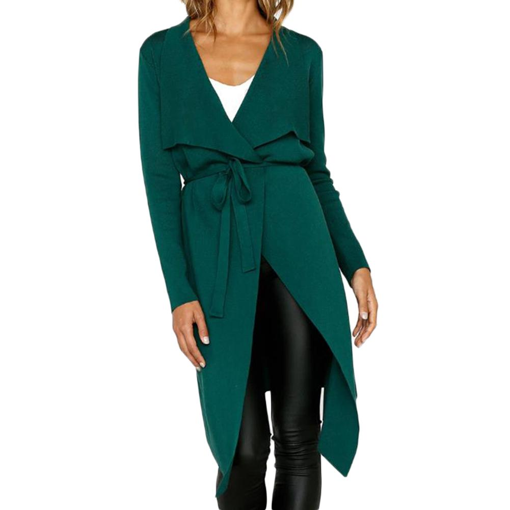 Women's OL   Trench   Coat Fashionable Casual Lapel Artificial Suede Fabric Overcoat Duster Long Sleeve Straight Coat Tops