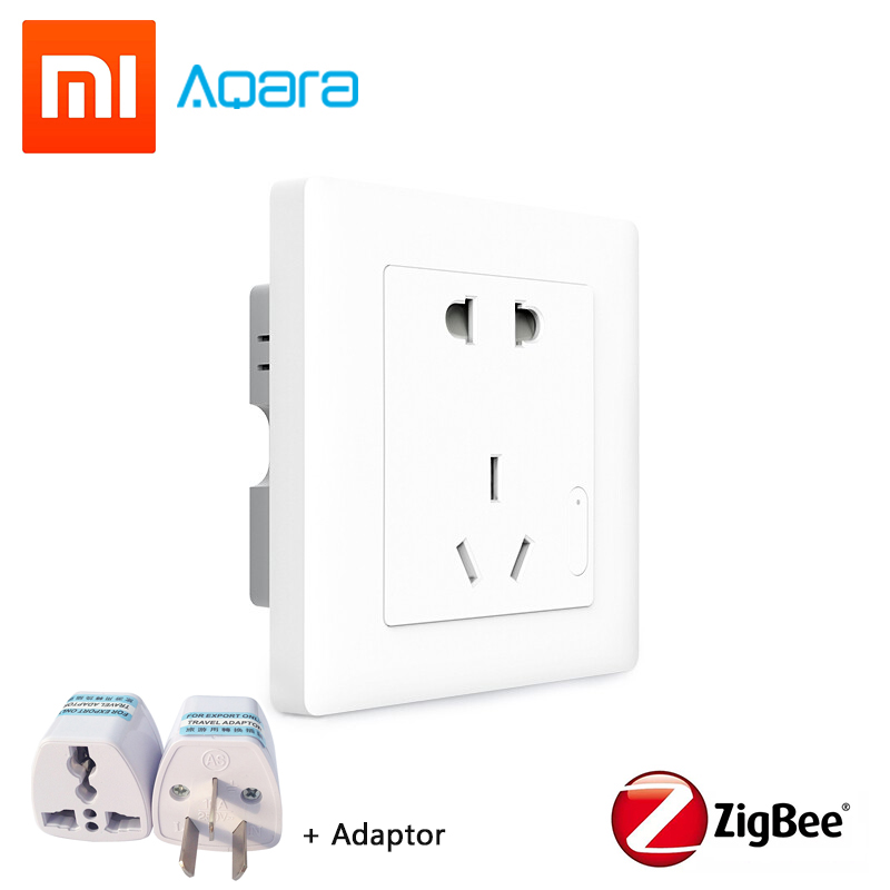Xiaomi Aqara Smart Wall Socket Zigbee Outlet 100 250V AC 10A 2500W Electricity Statistics Timer Safety power protection Mi Home