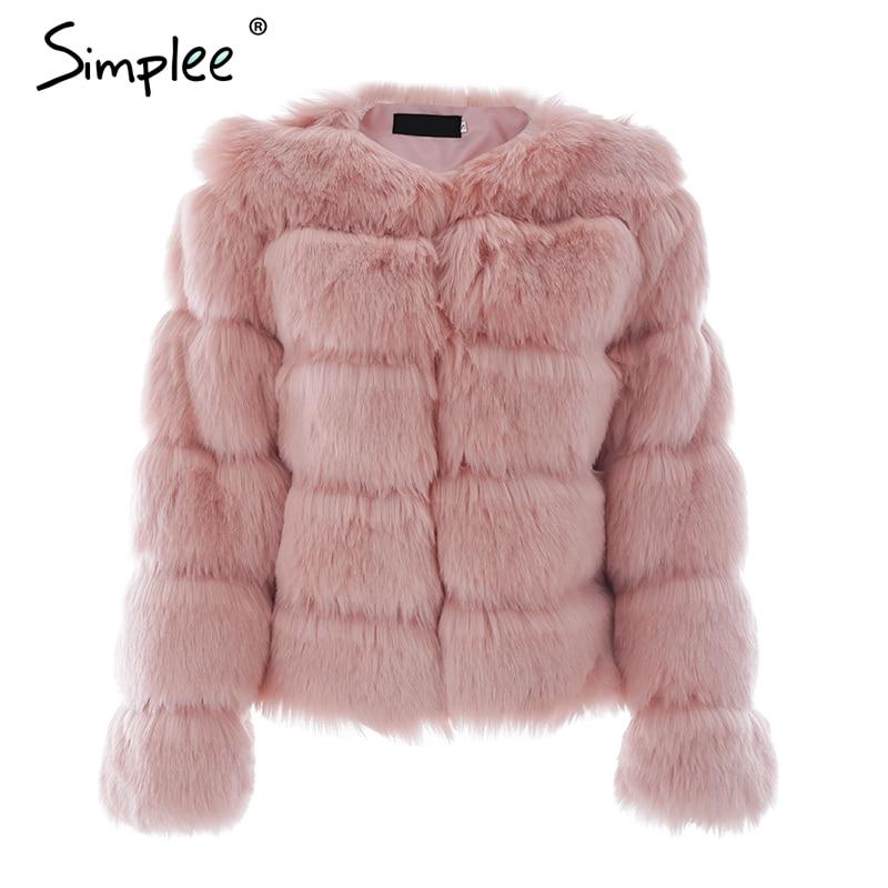 Vintage fluffy faux fur coat 4