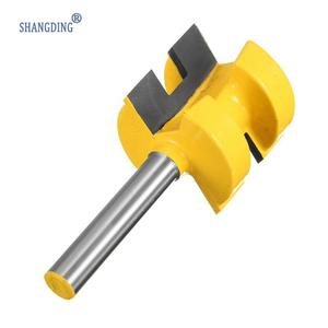 "Image 4 - 2Pcs/Set 1/4 Inch Shank Tongue Groove Router Bit +1/4"" Shank Groove router bit Wood Woodworking Cutting Tools"
