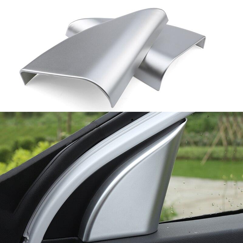 For Hyundai Elantra AD 2016 2017 Car Chrome Pillar Triangle Cover Interior Decoration Sequins Brand Auto