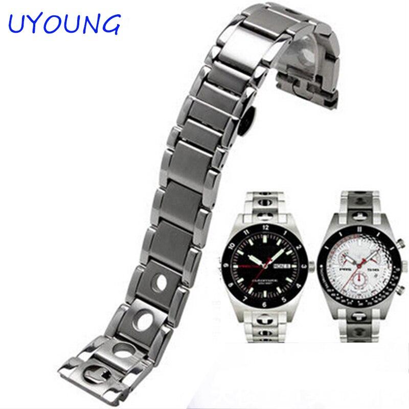 New Unisex 20 mm Argjend Stainless Steel Watch Band, Rrip rripi i - Aksesorë për orë - Foto 1
