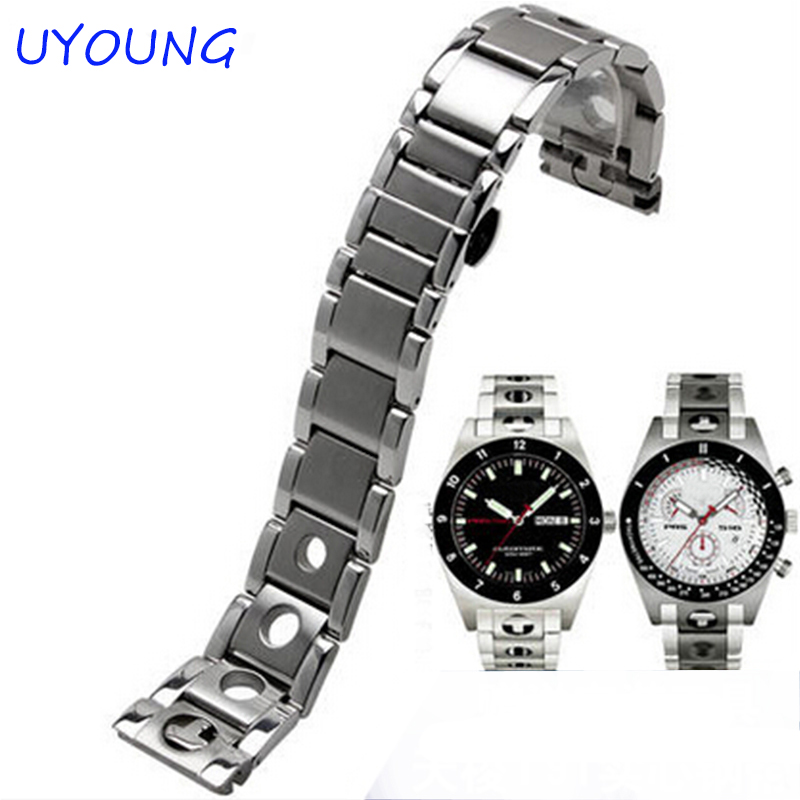 New Unisex 20mm Silver Stainless Steel Watch Band Strap Bracelet Solid New Curved End For Tissot T91