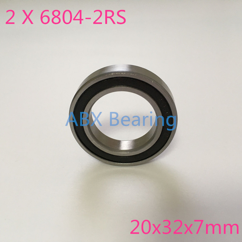 2 pcs/lot S6804-2RS S6804 61804 6804 2RS 6804RS stainless steel 440C hybrid ceramic deep groove ball bearing 20x32x7mm free shipping 6804 2rs 6804 61804 2rs hybrid ceramic deep groove ball bearing 20x32x7mm