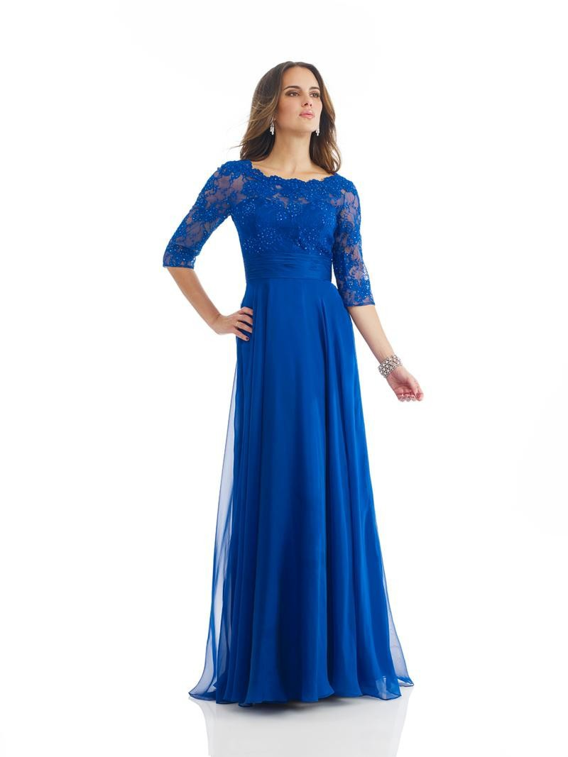 Plus Size Sexy Scoop Royal Blue Mother Of The Bride Lace Dresses