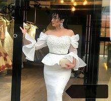 Women Elegant Patchwork Beading Ruffle Off Shoulder Backless Flare Sleeve Peplum Scuba Elegant Midi Dress ruffle trim flare sleeve top