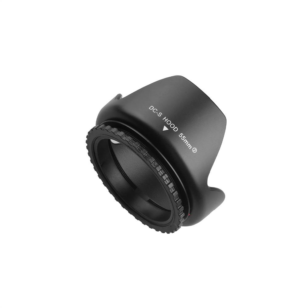 capsaver 55mm Lens Hood Screw Mount Flower Petal Tulip Lens Hood for Canon Nikon Sony Camera Accessories Lens Protect 7