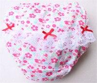 Berymond 4PCS/Lot 100% Cotton Girls Underwear Kids Baby Panties Children's Lace Underpants Dots, flowers, cars, fruit,Panties