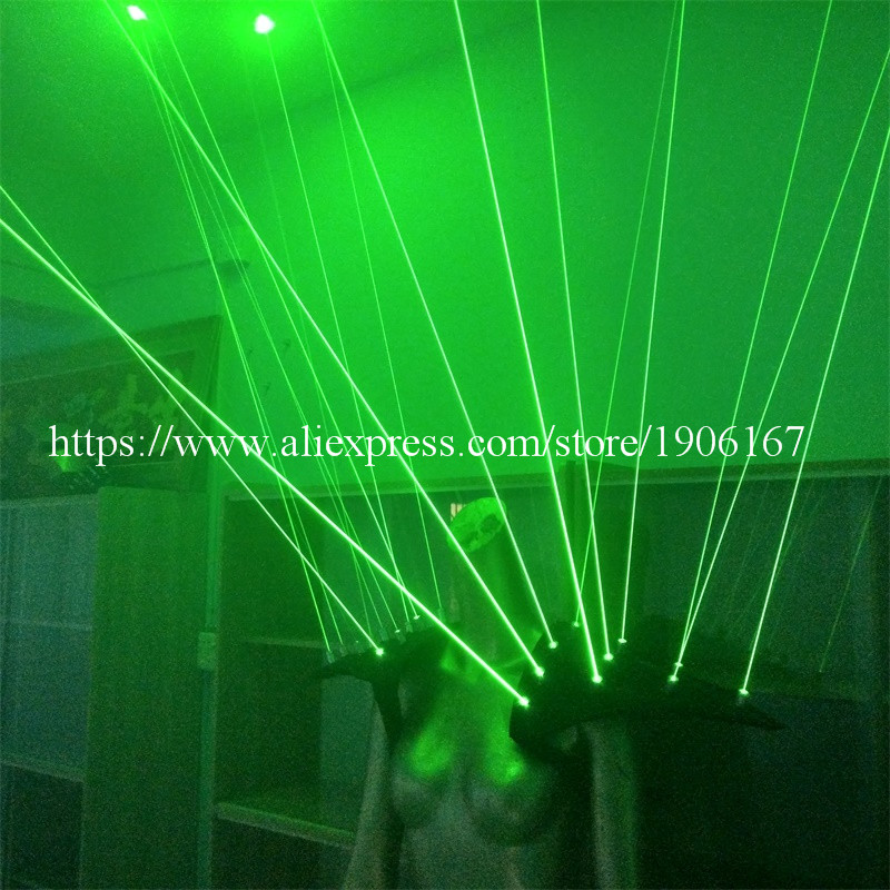 Zeleni laserski prsluk odjeća Laserman prsluk nošnja s 20pcs laseri - Za blagdane i zabave - Foto 4