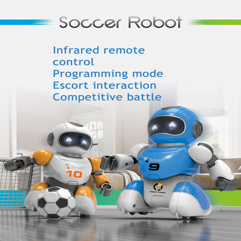 Smart Play Soccer Robot Remote Control Battle Toys Hot Selling Electric Singing Dancing football Robot For Children Kids FSWB