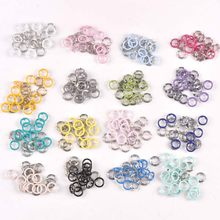 20 sets (4 stks 1 set) 9.5mm multicolor Metal Prong Snap Knoppen Fasteners Drukknopen Poppers Baby Romper Gesp Snap cp2230(China)