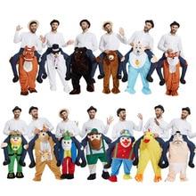 2018 новый мужской Магия забавно брюки контрейлерных ездить на езда животных плеча взрослого/Дети Косплэй костюм 28 стилей 165-185 см
