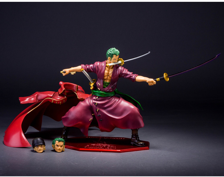 23cm One Piece Theater Version Red RORONOA ZORO Action Figures Japanese Anime PVC Toys One Piece Dolls For Boys one piece figure japanese one piece nico robin pvc 17cm action figures kids toys japanese anime figurine doll free shipping