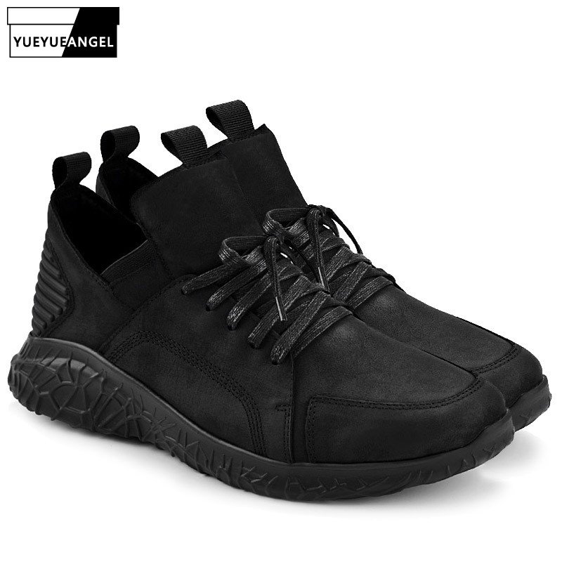New Designer Genuine Leather Casual Shoes High Quality Fashion Men Shoes Luxury Brand Round Toe Winter Real Leather Ankle ShoesNew Designer Genuine Leather Casual Shoes High Quality Fashion Men Shoes Luxury Brand Round Toe Winter Real Leather Ankle Shoes