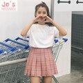 2017 New Spring high waist ball pleated Plaid a-line sailor skirts Harajuku Tutu skirt Large Size Japanese school uniform