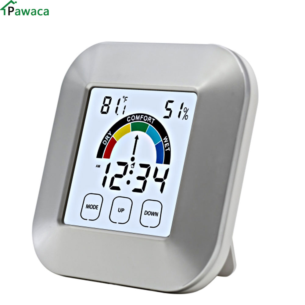 Tools Temperature Instruments Hot Lcd Wireless Digital Thermometer Desktop Table Clock Outdoor Indoor Temperature Meter Measuring Tools Elegant And Sturdy Package