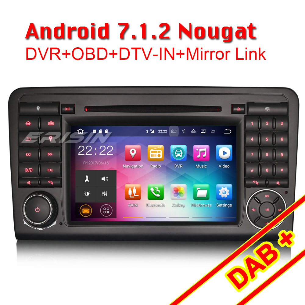 erisin es3783l 7 android 7 1 dab car radio 3g bluetooth. Black Bedroom Furniture Sets. Home Design Ideas