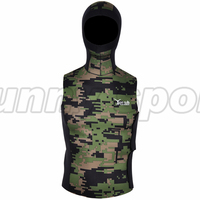 2017 new style 2mm hooded sleeveless Camo suit jacket Diving suit wetsuit Camouflage vest Super elastic material