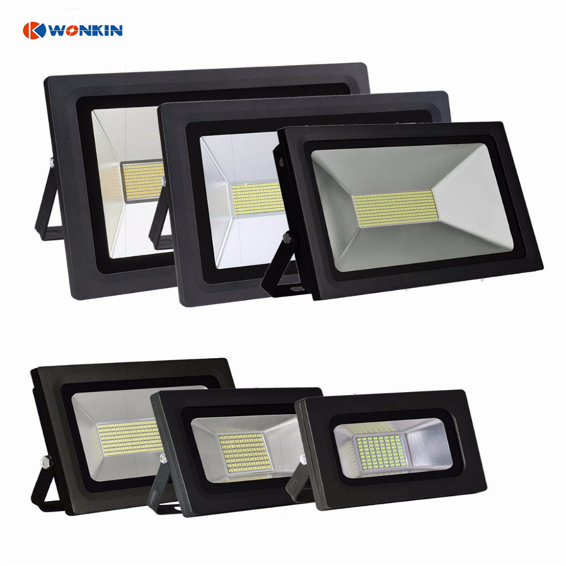 <font><b>LED</b></font> <font><b>floodlight</b></font> 15W 30W <font><b>60W</b></font> <font><b>led</b></font> Spotlight AC85-265V Reflector Waterproof Outdoor Garden Street image